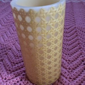 CANE WICKER RATTAN Flameless Candle